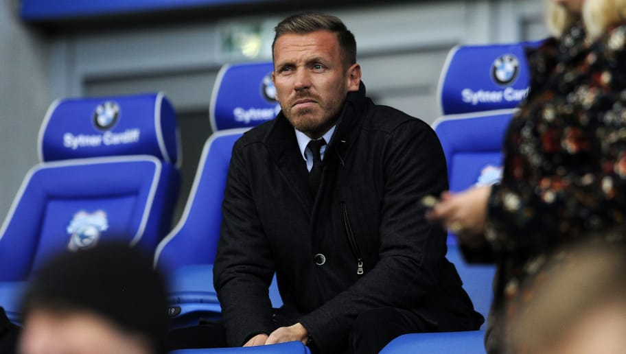 CARDIFF, WALES - NOVEMBER 07: Former Cardiff City player and Wales International Craig Bellamy during the Sky Bet Championship match between Cardiff City and Reading at the Cardiff City Stadium on November 7, 2015 in Cardiff, Wales.  (Photo by Harry Trump/Getty Images)