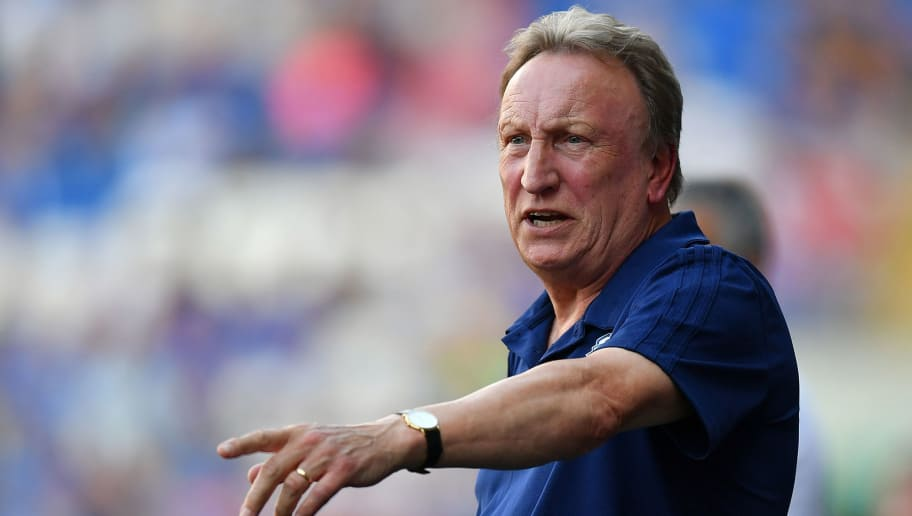 CARDIFF, WALES - AUGUST 04:  Neil Warnock, Manager of Cardiff City reacts during the Pre-Season Friendly match between Cardiff City and Real Betis at Cardiff City Stadium on August 4, 2018 in Cardiff, Wales. (Photo by Dan Mullan/Getty Images)