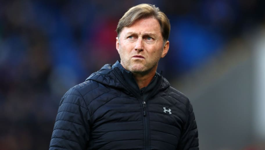 CARDIFF, WALES - DECEMBER 08: Ralph Hasenhuettl, Manager of Southampton looks on prior to the Premier League match between Cardiff City and Southampton FC at Cardiff City Stadium on December 8, 2018 in Cardiff, United Kingdom.  (Photo by Michael Steele/Getty Images)