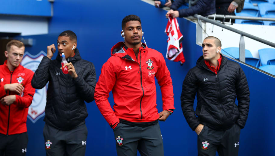CARDIFF, WALES - DECEMBER 08: Mario Lemina of Southampton takes a look around the stadium prior to the Premier League match between Cardiff City and Southampton FC at Cardiff City Stadium on December 8, 2018 in Cardiff, United Kingdom.  (Photo by Michael Steele/Getty Images)