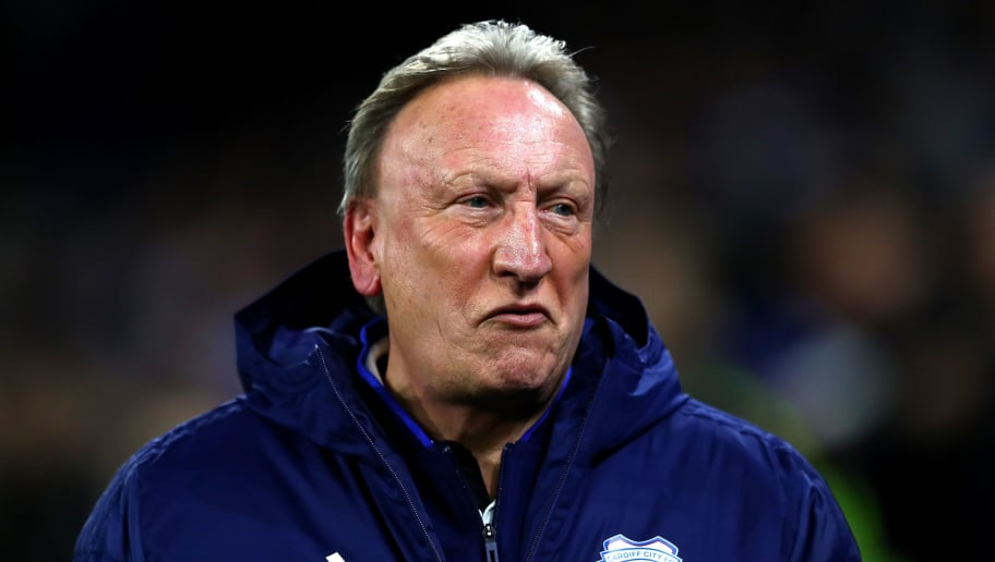 CARDIFF, WALES - NOVEMBER 30:  Neil Warnock, Manager of Cardiff City looks on during the Premier League match between Cardiff City and Wolverhampton Wanderers at Cardiff City Stadium on November 30, 2018 in Cardiff, United Kingdom.  (Photo by Michael Steele/Getty Images)