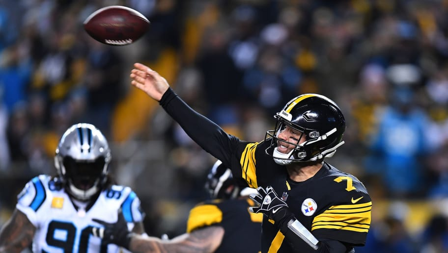 PITTSBURGH, PA - NOVEMBER 08: Ben Roethlisberger #7 of the Pittsburgh Steelers drops back to pass during the first quarter in the game against the Carolina Panthers at Heinz Field on November 8, 2018 in Pittsburgh, Pennsylvania. (Photo by Joe Sargent/Getty Images)
