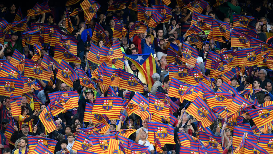 barcelona fans urged to wave catalan flag and jeer real madrid at camp nou ht media barcelona fans urged to wave catalan