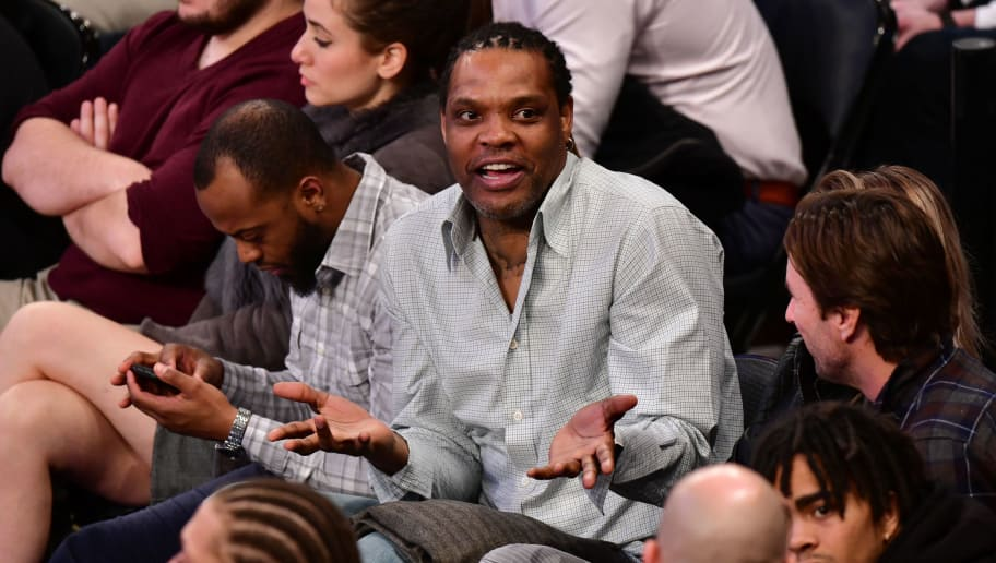 NEW YORK, NY - FEBRUARY 26:  Latrell Sprewell attends the New York Knicks Vs Golden State Warriors game at Madison Square Garden on February 26, 2018 in New York City.  (Photo by James Devaney/Getty Images)
