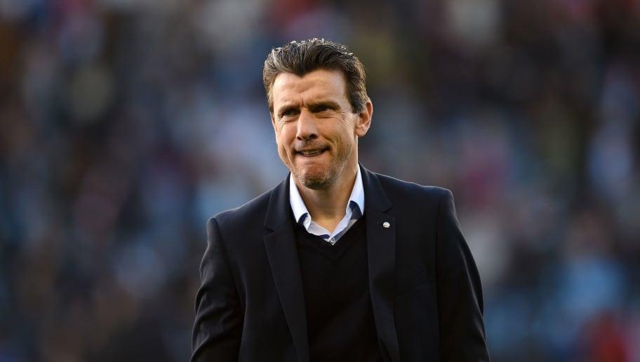 VIGO, SPAIN - APRIL 17: Head coach Juan Carlos Unzue of Celta de Vigo during the La Liga match between Celta de Vigo and Barcelona at Municipal Balaidos on April 17, 2018 in Vigo, Spain. (Photo by Octavio Passos/Getty Images)