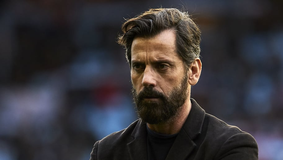 VIGO, SPAIN - FEBRUARY 11:  Quique Sanchez Flores the manager of RCD Espanyol looks on prior to the La Liga match between Celta de Vigo and Espanyol at Balaidos Stadium on February 11, 2018 in Vigo, Spain.  (Photo by Quality Sport Images/Getty Images)
