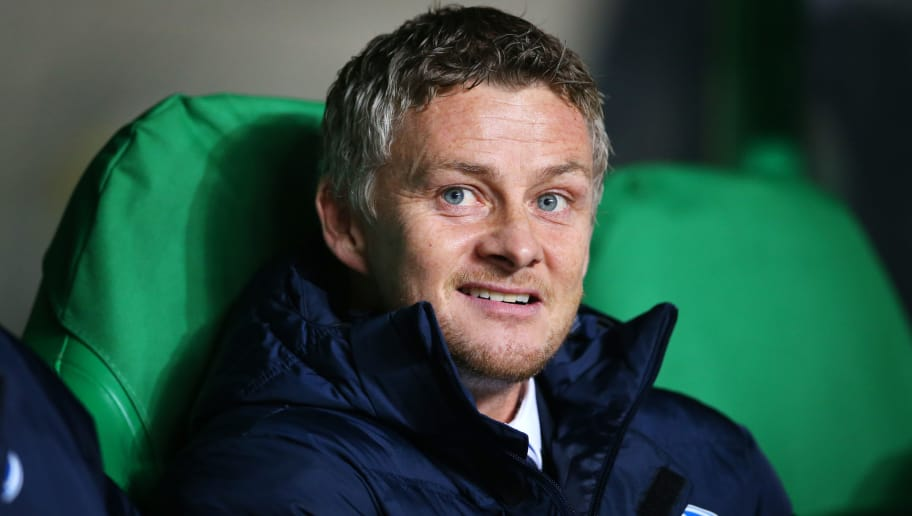 GLASGOW, SCOTLAND - NOVEMBER 05:  Ole Gunnar Solskjaer, manager of Molde looks on during the UEFA Europa League match between Celtic FC and Molde FK at Celtic Park on November 5, 2015 in Glasgow, Scotland. (Photo by Ian MacNicol/Getty images)