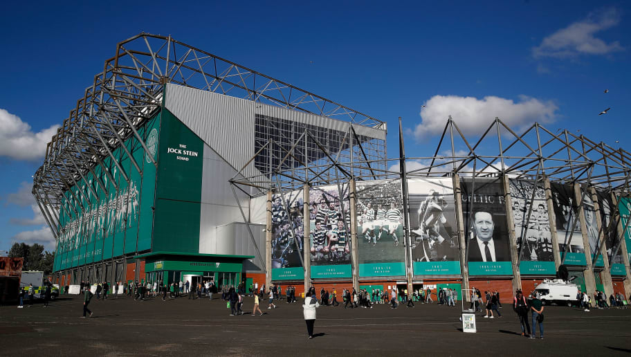 GLASGOW, SCOTLAND - AUGUST 08:  A general view outside the stadium during the UEFA Champions League Qualifier between Celtic and AEK Athens at Celtic Park Stadium on August 8, 2018 in Glasgow, Scotland.  (Photo by Julian Finney/Getty Images)