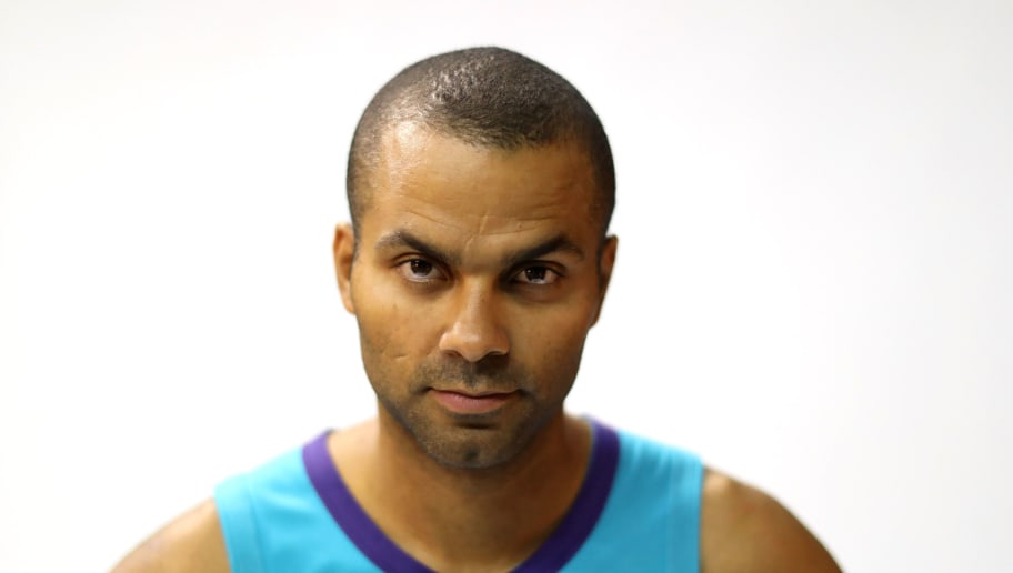 CHARLOTTE, NC - SEPTEMBER 24:  Tony Parker poses for a portrait during the Charlotte Hornets Media Day at the Spectrum Center on September 24, 2018 in Charlotte, North Carolina.  (Photo by Streeter Lecka/Getty Images)