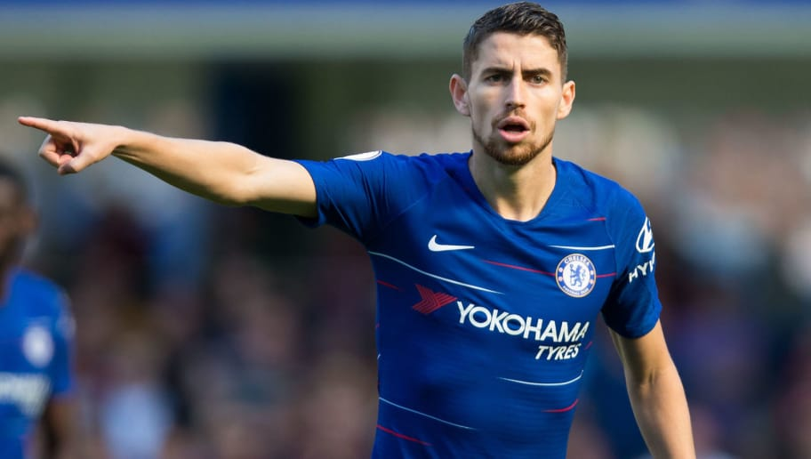 LONDON, ENGLAND - SEPTEMBER 01: Jorginho of Chelsea during the Premier League match between Chelsea FC and AFC Bournemouth at Stamford Bridge on September 1, 2018 in London, United Kingdom. (Photo by MB Media/Getty Images)