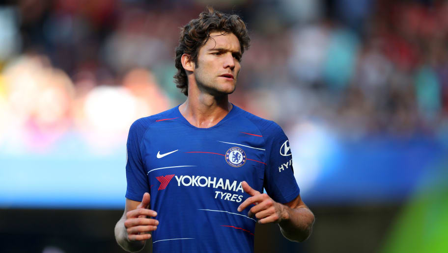 LONDON, ENGLAND - SEPTEMBER 01: Marcos Alonso of Chelsea during the Premier League match between Chelsea FC and AFC Bournemouth at Stamford Bridge on September 1, 2018 in London, United Kingdom. (Photo by Catherine Ivill/Getty Images)