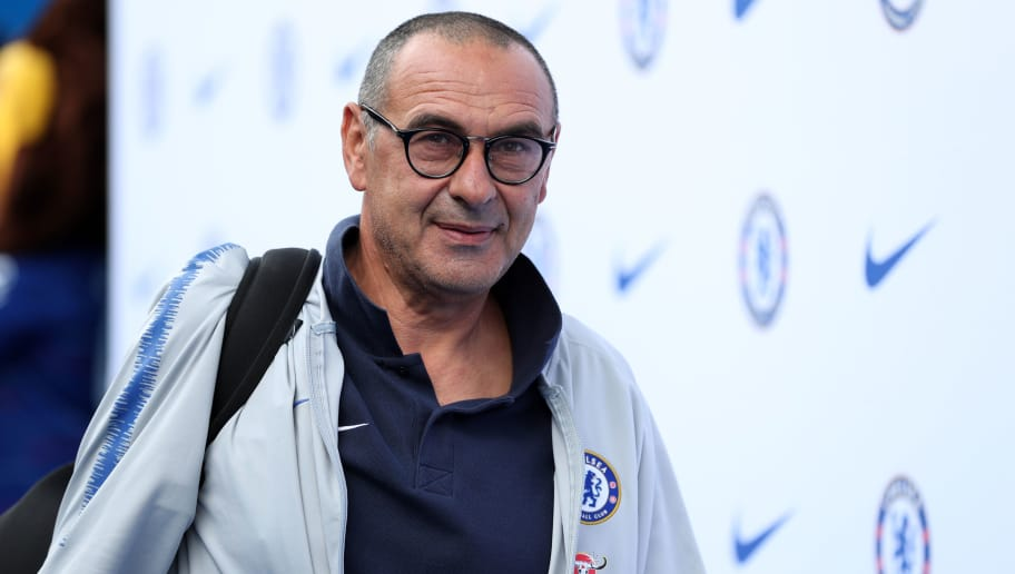 LONDON, ENGLAND - SEPTEMBER 15:  Maurizio Sarri, Manager of Chelsea arrives ahead of the Premier League match between Chelsea FC and Cardiff City at Stamford Bridge on September 15, 2018 in London, United Kingdom.  (Photo by Dan Istitene/Getty Images)