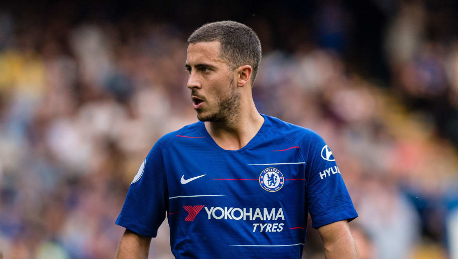 LONDON, ENGLAND - SEPTEMBER 15: Eden Hazard of Chelsea FC during the Premier League match between Chelsea FC and Cardiff City at Stamford Bridge on September 15, 2018 in London, United Kingdom. (Photo by Sebastian Frej/MB Media/Getty Images)