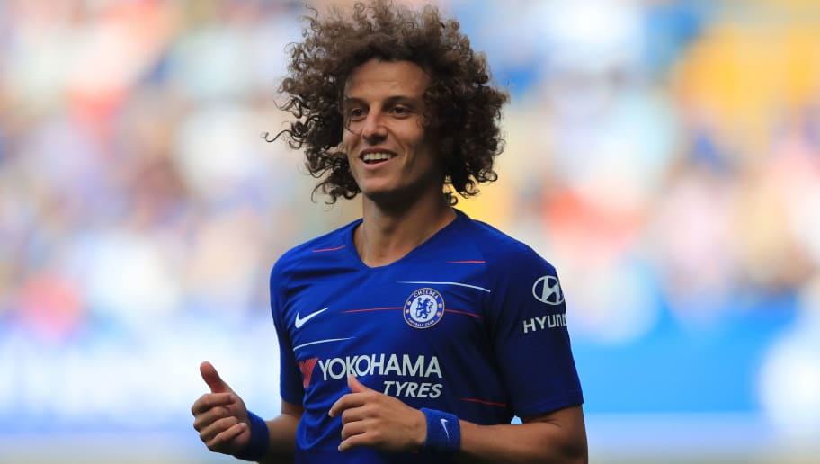 LONDON, ENGLAND - SEPTEMBER 15: David Luiz of Chelsea during the Premier League match between Chelsea FC and Cardiff City at Stamford Bridge on September 15, 2018 in London, United Kingdom. (Photo by Marc Atkins/Getty Images)