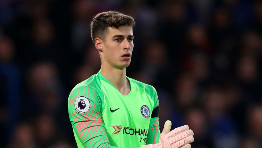LONDON, ENGLAND - NOVEMBER 04: Kepa Arrizabalaga of Chelsea during the Premier League match between Chelsea FC and Crystal Palace at Stamford Bridge on November 4, 2018 in London, United Kingdom. (Photo by Catherine Ivill/Getty Images)