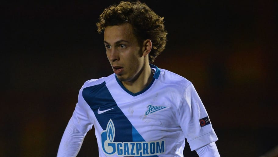 ALDERSHOT, ENGLAND - FEBRUARY 25:  Maixmillan Pronichev of FC Zenit during the Round of 16 in the UEFA Youth League match between Chelsea Fc and FC Zenit at the ESS Stadium on February 25, 2015 in Aldershot, England.  (Photo by Christopher Lee/Getty Images)