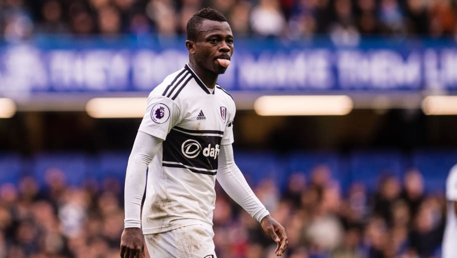 LONDON, ENGLAND - DECEMBER 02: Jean Michaël Seri of Fulham FC looks on during the Premier League match between Chelsea FC and Fulham FC at Stamford Bridge on December 2, 2018 in London, United Kingdom. (Photo by Sebastian Frej/MB Media/Getty Images)