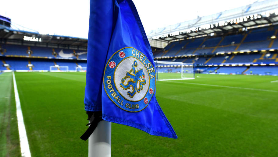 LONDON, ENGLAND - DECEMBER 02:  A view of the corner flag inside the stadium ahead of the Premier League match between Chelsea FC and Fulham FC at Stamford Bridge on December 2, 2018 in London, United Kingdom.  (Photo by Mike Hewitt/Getty Images)