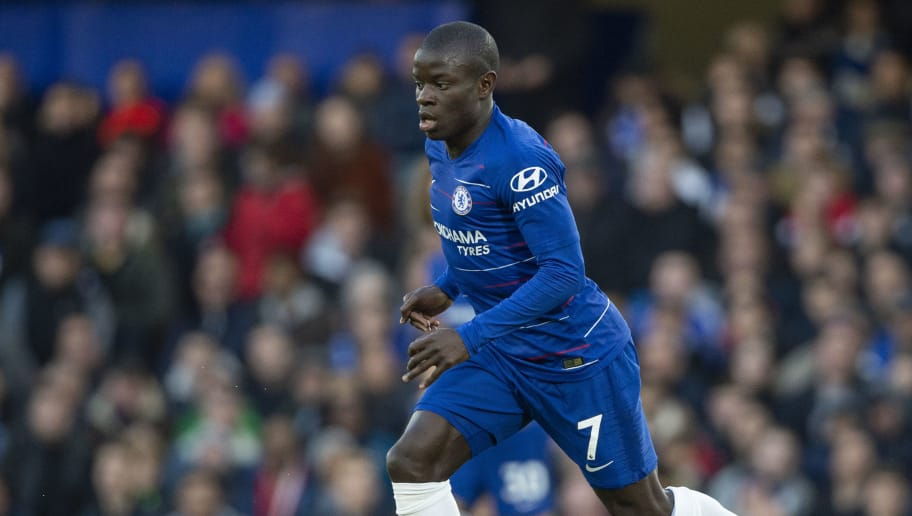 LONDON, ENGLAND - DECEMBER 22: N'Golo Kanté of Chelsea during the Premier League match between Chelsea FC and Leicester City at Stamford Bridge on December 22, 2018 in London, United Kingdom. (Photo by Visionhaus/Getty Images)