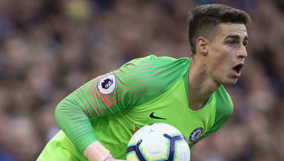 LONDON, ENGLAND - SEPTEMBER 29: Goalkeeper Kepa Arrizabalaga of Chelsea during the Premier League match between Chelsea FC and Liverpool FC at Stamford Bridge on September 29, 2018 in London, United Kingdom. (Photo by Visionhaus/Getty Images)