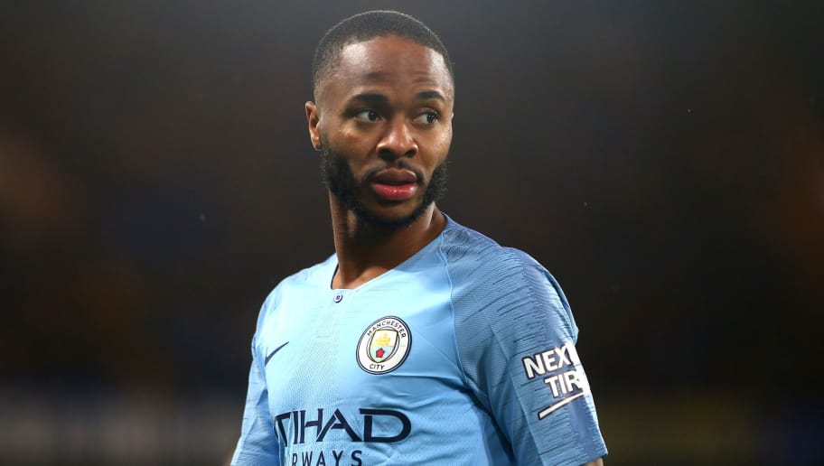 LONDON, ENGLAND - DECEMBER 08, Raheem Sterling of Manchester City during the Premier League match between Chelsea FC and Manchester City at Stamford Bridge on December 8, 2018 in London, United Kingdom. (Photo by Chloe Knott - Danehouse/Getty Images)