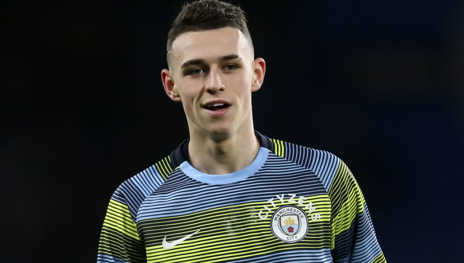 LONDON, ENGLAND - DECEMBER 08: Phil Foden of Manchester City before the Premier League match between Chelsea FC and Manchester City at Stamford Bridge on December 8, 2018 in London, United Kingdom. (Photo by James Baylis - AMA/Getty Images)