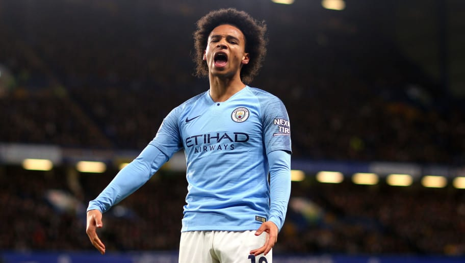 LONDON, ENGLAND - DECEMBER 08, Leroy Sane of Manchester City during the Premier League match between Chelsea FC and Manchester City at Stamford Bridge on December 8, 2018 in London, United Kingdom. (Photo by Chloe Knott - Danehouse/Getty Images)