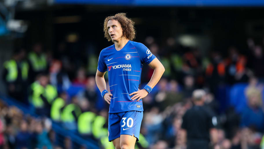 LONDON, ENGLAND - OCTOBER 20: A dejected David Luiz of Chelsea during the Premier League match between Chelsea FC and Manchester United at Stamford Bridge on October 20, 2018 in London, United Kingdom. (Photo by Matthew Ashton - AMA/Getty Images)