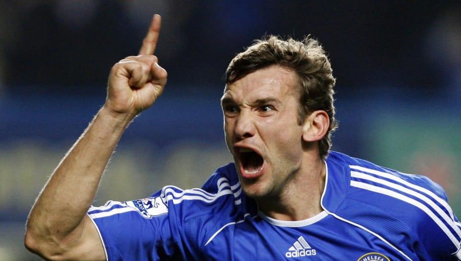 Chelsea's Andriy Shevchenko celebrates s
