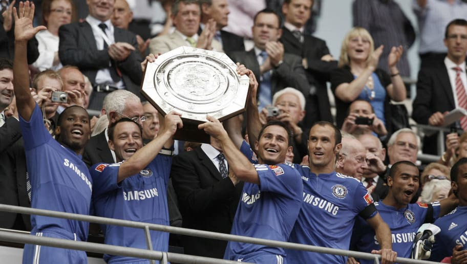 Chelsea's Captain John Terry (2ndL) and