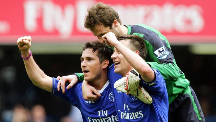 Chelsea's Frank Lampard (L) John Terry (