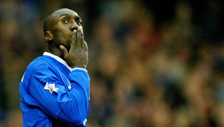 Chelsea's Jimmy Hasselbaink blows a kiss