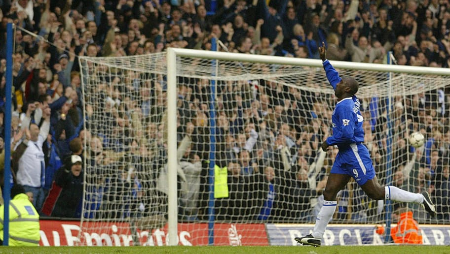 Chelsea's Jimmy Hasselbaink celebrates a