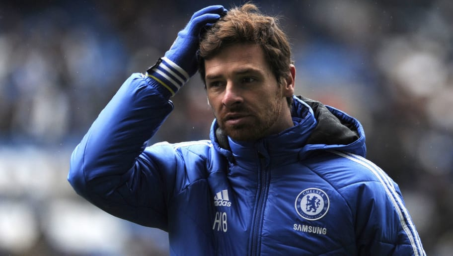 Chelsea's Portuguese manager Andre Villas-Boas sctratches his head during an open training session at Stamford Bridge in London on on December 19, 2011. Chelsea, fourth in the Premier League table are gearing up for their London derby against third-placed Tottenham on December 22.  AFP PHOTO / CARL COURT (Photo credit should read CARL COURT/AFP/Getty Images)