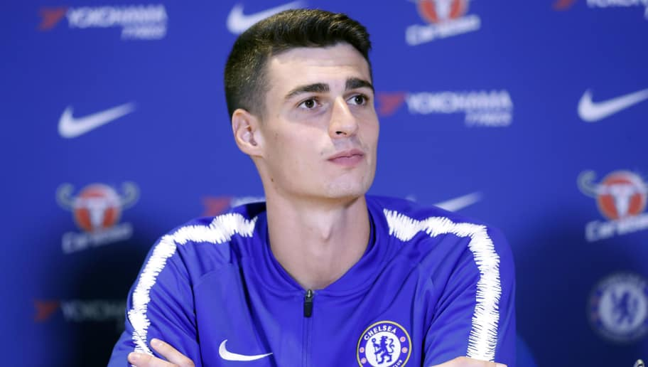 LONDON, ENGLAND - AUGUST 09: Chelsea unveil new signing Kepa Arrizabalaga at Stamford Bridge on August 9, 2018 in London, England. (Photo by Luke Walker/Getty Images)