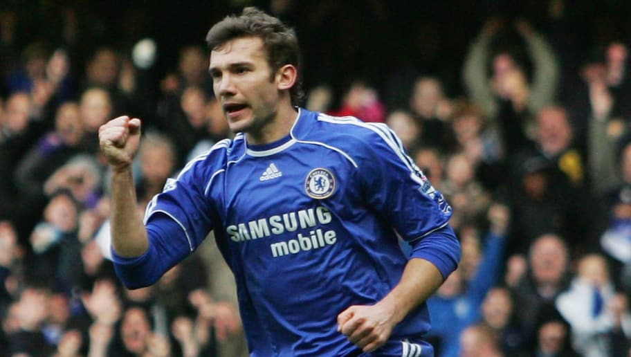 LONDON - DECEMBER 26:  Andriy Shevchenko of Chelsea celebrates after scoring from the penalty spot during the Barclays Premier League match between Chelsea and Aston Villa at Stamford Bridge on December 26, 2007 in London, England.  (Photo by Ian Walton/Getty Images)
