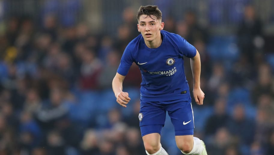 LONDON, ENGLAND - APRIL 10:  Billy Gilmour of Chelsea in action during the the FA Youth Cup semi-final second leg match between Chelsea and Birmingham City at Stamford Bridge on April 10, 2018 in London, England.  (Photo by Warren Little/Getty Images)