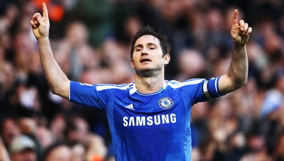 LONDON, ENGLAND - FEBRUARY 25:  Frank Lampard of Chelsea celebrates scoring his sides third goal during the Barclays Premier League match between Chelsea and Bolton Wanderers at Stamford Bridge on February 25, 2012 in London, England.  (Photo by Clive Mason/Getty Images)