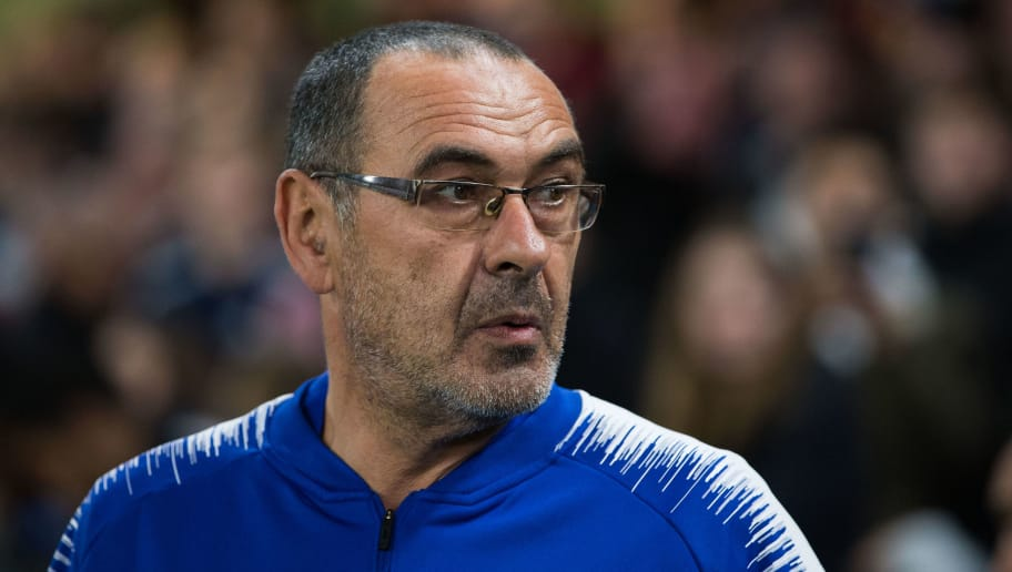 LONDON, ENGLAND - OCTOBER 25:  Chelsea manager Maurizio Sarri during the UEFA Europa League Group L match between Chelsea and FC BATE Borisov at Stamford Bridge on October 25, 2018 in London, United Kingdom. (Photo by Craig Mercer/MB Media/Getty Images)