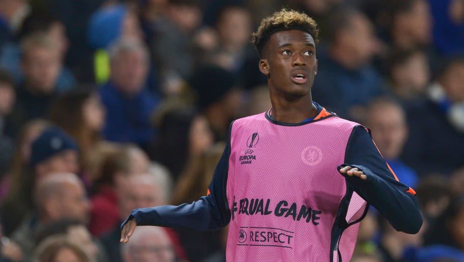 LONDON, ENGLAND - OCTOBER 25: Callum Hudson-Odoi of Chelsea during the UEFA Europa League Group L match between Chelsea and FC BATE Borisov at Stamford Bridge on October 25, 2018 in London, United Kingdom. (Photo by TF-Images/Getty Images)