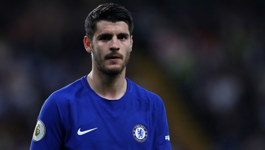 LONDON, ENGLAND - MAY 09: Alvaro Morata of Chelsea during the Premier League match between Chelsea and Huddersfield Town at Stamford Bridge on May 9, 2018 in London, England. (Photo by Catherine Ivill/Getty Images)