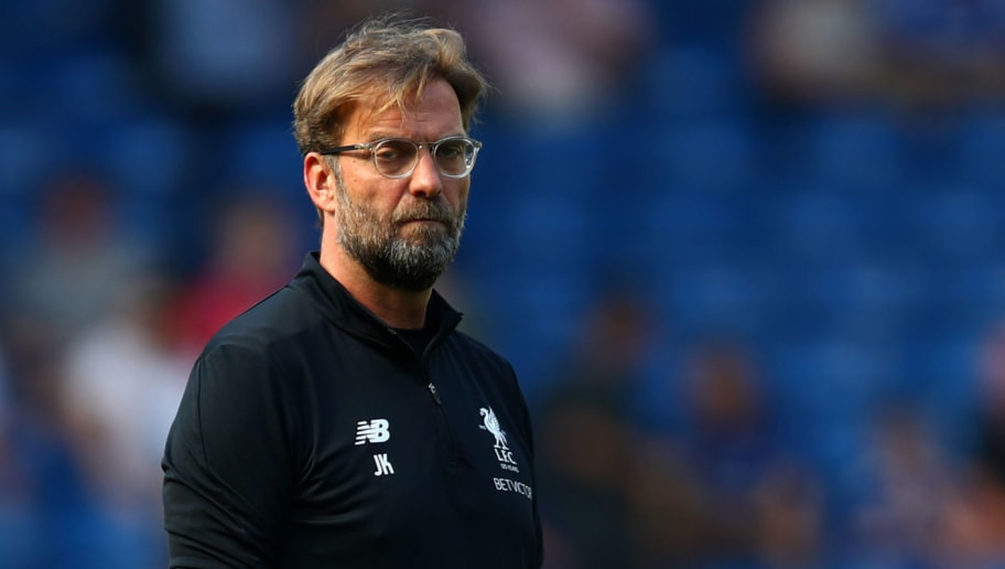 LONDON, ENGLAND - MAY 06:  Jurgen Klopp, Manager of Liverpool looks on during the warm up prior to the Premier League match between Chelsea and Liverpool at Stamford Bridge on May 6, 2018 in London, England.  (Photo by Clive Rose/Getty Images)