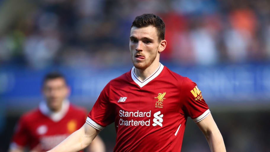 LONDON, ENGLAND - MAY 06:  Andrew Robertson of Liverpool in action during the Premier League match between Chelsea and Liverpool at Stamford Bridge on May 6, 2018 in London, England.  (Photo by Julian Finney/Getty Images)