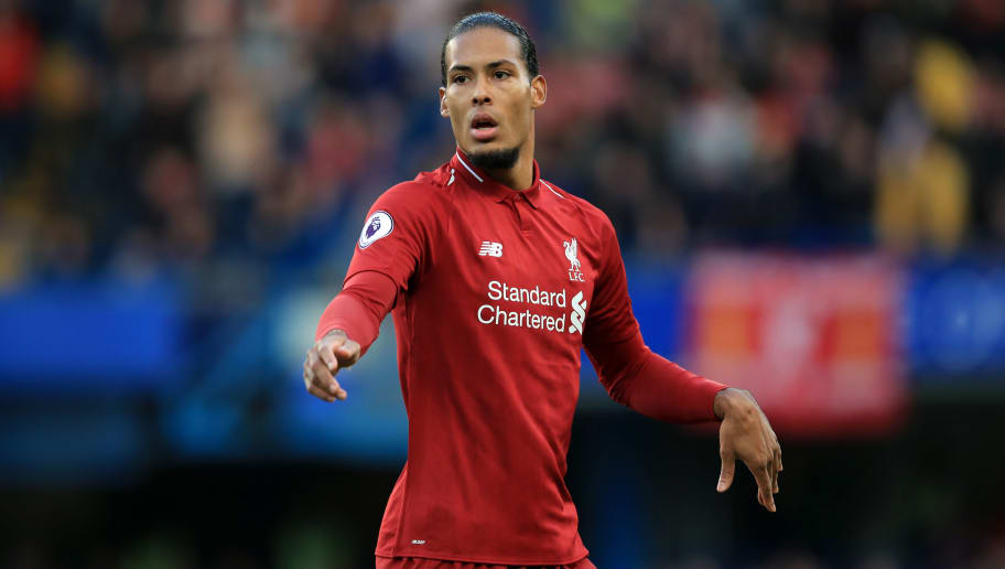 LONDON, ENGLAND - SEPTEMBER 29: Virgil van Dijk of Liverpool during the Premier League match between Chelsea FC and Liverpool FC at Stamford Bridge on September 29, 2018 in London, United Kingdom. (Photo by Marc Atkins/Getty Images)