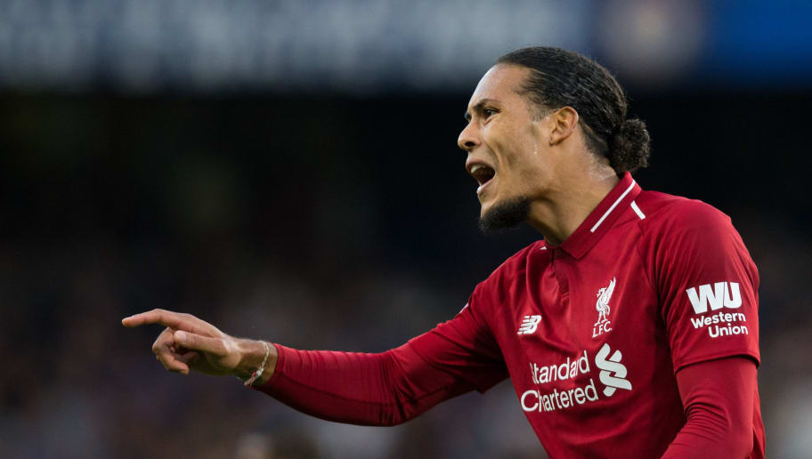 LONDON, ENGLAND - SEPTEMBER 29:  Virgil van Dijk of Liverpool reacts during the Premier League match between Chelsea FC and Liverpool FC at Stamford Bridge on September 29, 2018 in London, United Kingdom. (Photo by Craig Mercer/MB Media/Getty Images)