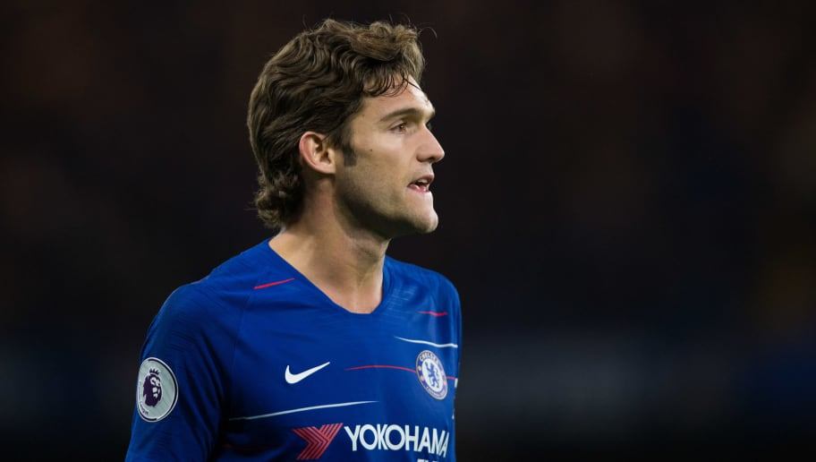 LONDON, ENGLAND - SEPTEMBER 29:  Marcos Alonso of Chelsea during the Premier League match between Chelsea FC and Liverpool FC at Stamford Bridge on September 29, 2018 in London, United Kingdom. (Photo by Craig Mercer/MB Media/Getty Images)