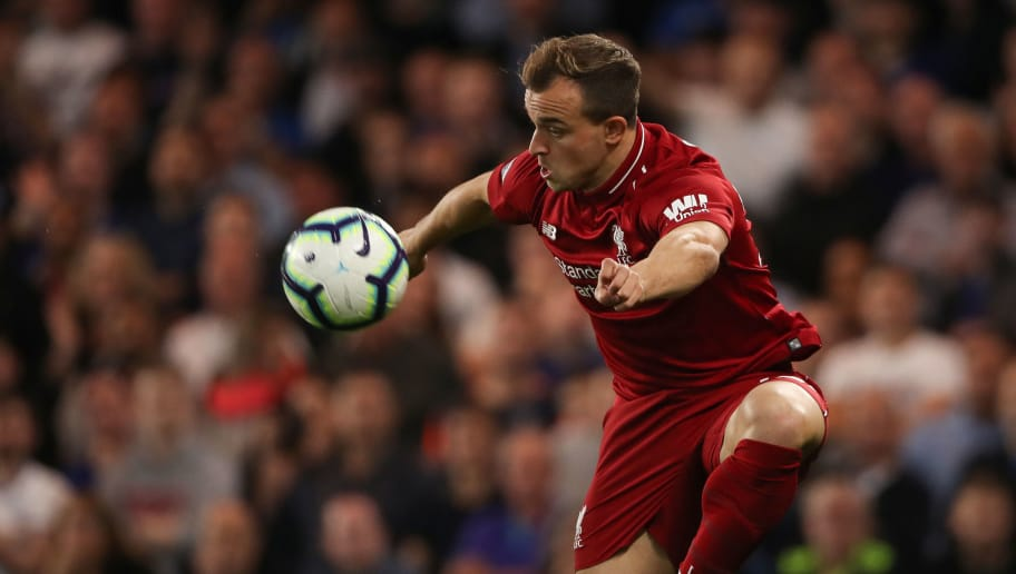 LONDON, ENGLAND - SEPTEMBER 29: Xherdan Shaqiri of Liverpool during the Premier League match between Chelsea FC and Liverpool FC at Stamford Bridge on September 29, 2018 in London, United Kingdom. (Photo by Matthew Ashton - AMA/Getty Images)