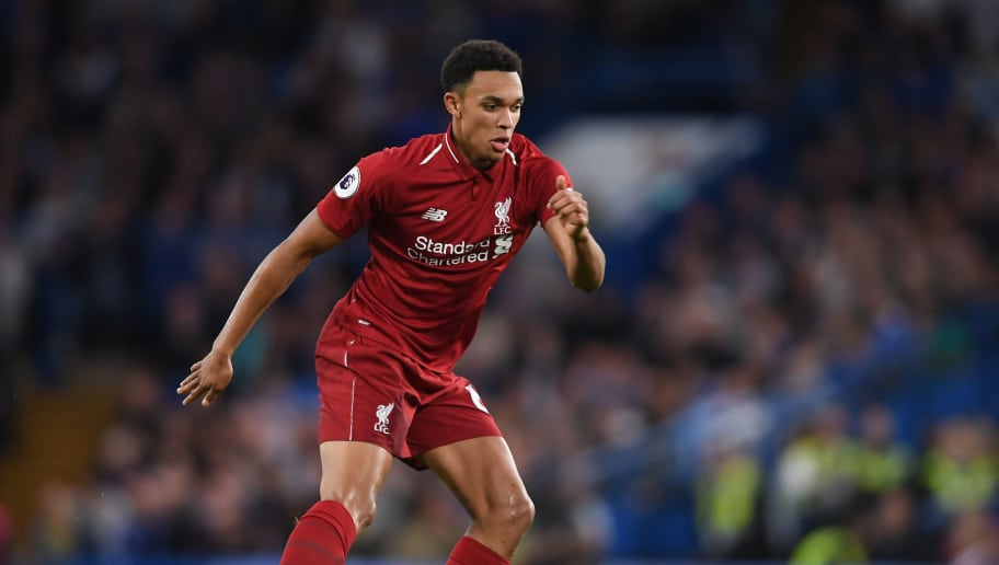 LONDON, ENGLAND - SEPTEMBER 29:  Trent Alexander-Arnold of Liverpool in action during the Premier League match between Chelsea FC and Liverpool FC at Stamford Bridge on September 29, 2018 in London, United Kingdom.  (Photo by Mike Hewitt/Getty Images)