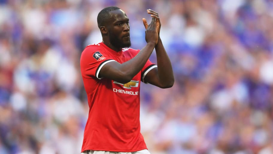 LONDON, ENGLAND - MAY 19:  Romelu Lukaku of Manchester United shows appreciation to the fans following The Emirates FA Cup Final between Chelsea and Manchester United at Wembley Stadium on May 19, 2018 in London, England.  (Photo by Laurence Griffiths/Getty Images)