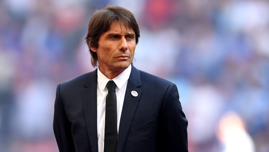 LONDON, ENGLAND - MAY 19:  Antonio Conte, Manager of Chelsea looks on prior to The Emirates FA Cup Final between Chelsea and Manchester United at Wembley Stadium on May 19, 2018 in London, England.  (Photo by Laurence Griffiths/Getty Images)